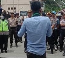 HMI Sorong Aksi Damai Tentang Penolakan UU Omnibus Law