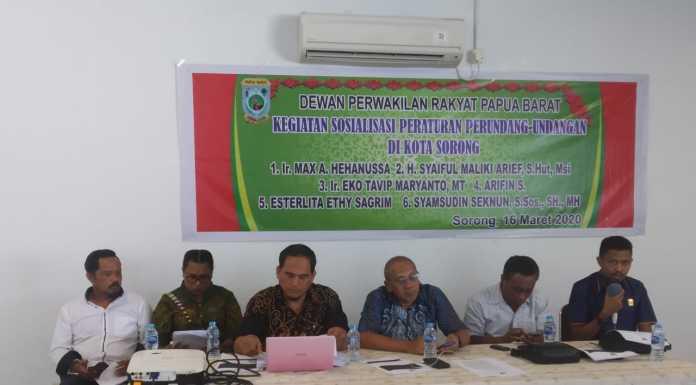 DPR PB Sosialisasikan Perundang-Undangan di Kota Sorong