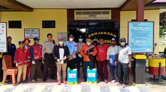 Tim Satgas Covid-19 GP Ansor Kab. Sorong Bersama FKUB Cegah Penyebaran Virus Corona