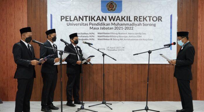 Wakil Rektor UniMUDA Sorong dilantik oleh Majelis Diktilitbang PP Muhammadiyah