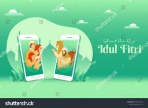 Idul Fitri Virtual (www.shutterstock.com)